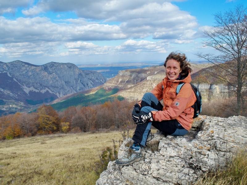 Olya Genova, Naturführerin im Vrachanski Balkan Naturpark - Foto: Naturpark Vachranski Balkan/Krasimir Lakovski