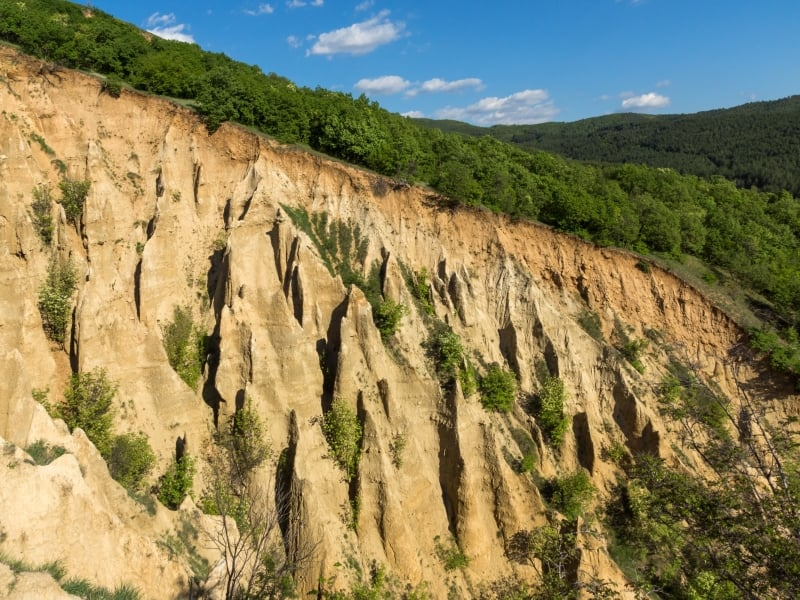 Die Sandstein-Pyramiden von Stob, Kjustendil, Bulgarien